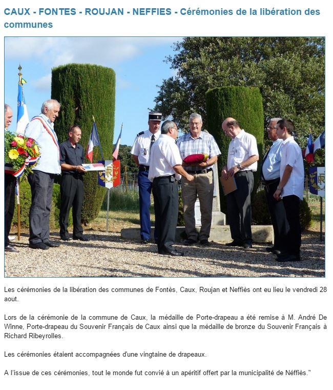 Libération des 4 communes août 2015