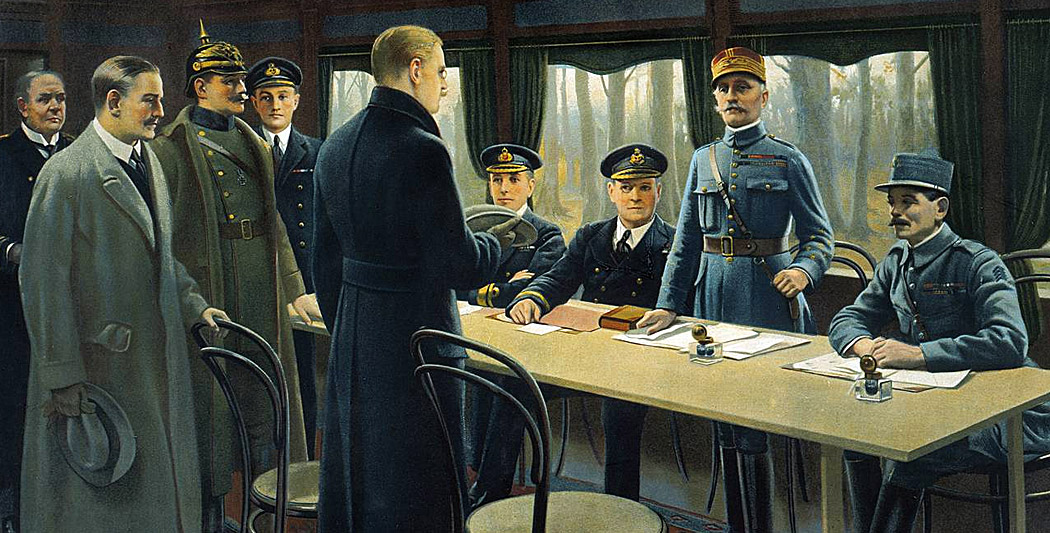 Où l'armistice est-elle signée ?