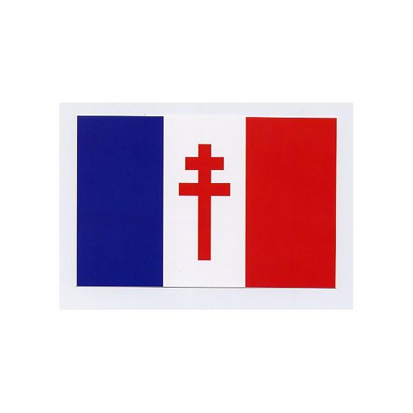 Par quel emblème son drapeau se différencie-t-il de celui de la France occupée ?