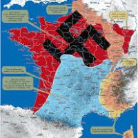 En combien de zones sera divisée la France  après l'armistice ?