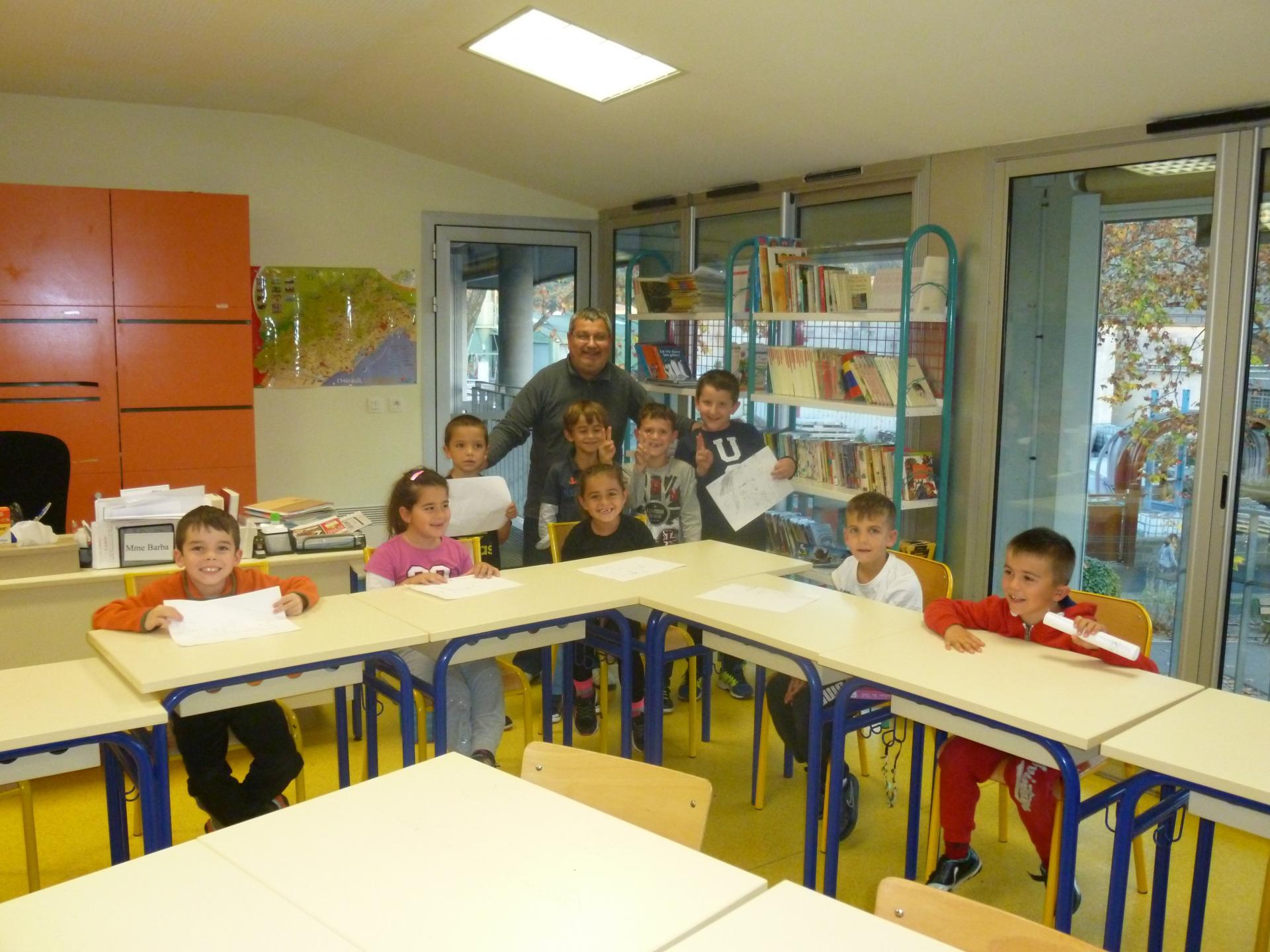 Un groupe d'élèves